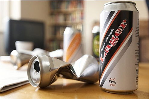 Photograph of some cans of larger