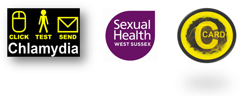 Sexual Health West Sussex services logos