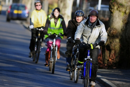 People cycling